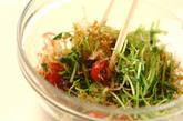 豆苗のおかか和えの作り方1