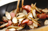 ゴボウの粒マスタード炒めの作り方1