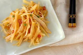 ジャガイモの山椒炒め