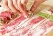 ウドとインゲンの牛肉巻きの作り方3