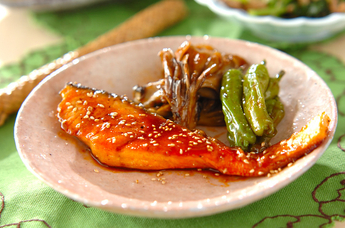 鮭の韓国風照り焼き