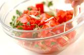 トマトのみぞれ甘酢和えの作り方1