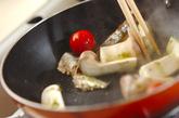 オイルサーディンとバジル焼き野菜の作り方3
