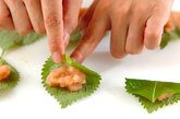 大葉とタラコの天ぷらの作り方1