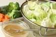キャベツの簡単サラダの下準備1