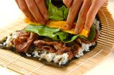 牛肉巻き寿司の作り方3