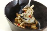 カキとシメジのピリ辛炒めの作り方4