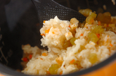 フキ入り炊き込みご飯の作り方3
