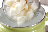 長芋の梅マヨ和えの下準備1