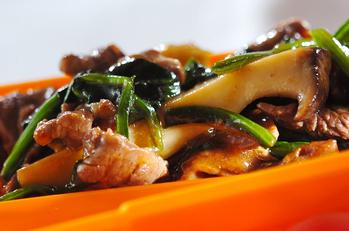 牛肉とホウレン草の中華風炒め