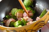 芽キャベツのアンチョビ炒めの作り方1