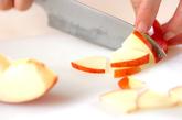 白菜のリンゴドレッシングの下準備2