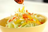 細切り野菜サラダの作り方1