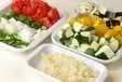 ハンバーグ夏野菜ソースの下準備3
