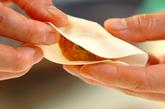 カボチャの煮物餃子の作り方2