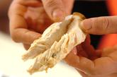 ささ身の梅しそパスタとアサリサラダの作り方4