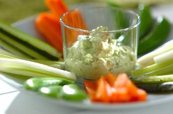 野菜スティック&ディップ