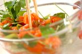 トマトの和風サラダの作り方1