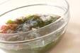 海藻サラダの下準備1