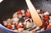 タコの炒めパスタの作り方3