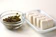 アオサと豆腐のみそ汁の下準備1