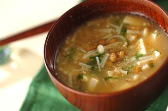 エノキ入り納豆汁