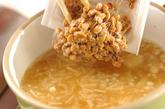 エノキ入り納豆汁の作り方1