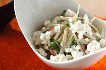 ボイルゴボウのサラダ