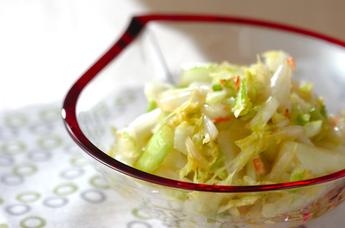 白菜とセロリの浅漬け