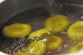 抹茶白玉パフェの作り方1