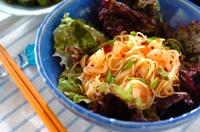ピリ辛素麺サラダ