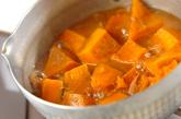 カボチャとツナの煮物の作り方1
