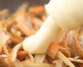 きんぴらと鶏肉のベーグルの作り方2