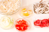 アジア風牛肉サラダの下準備1