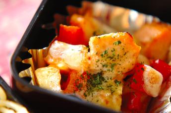 ジャガイモと鮭のチーズ焼き