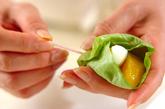 サラダ菜とオレンジのサラダの作り方1