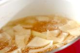 チーズ入りかきたま汁の作り方1