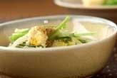 小松菜とユリネの卵とじ