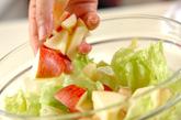 レタスとリンゴのサラダの作り方1