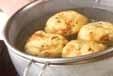 がんもと青菜の煮物の下準備1