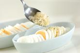 ゆで卵のチーズパン粉焼きの作り方1