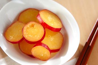 サツマイモのハチミツレモン煮