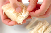 エノキのシンプル炊き込みご飯の下準備2