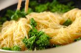 菜の花のペペロンチーノの作り方3