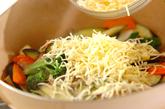 色々野菜のチーズ炒めの作り方2