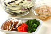 色々野菜のチーズ炒めの下準備1