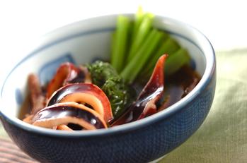 イカと小松菜のトロミ煮