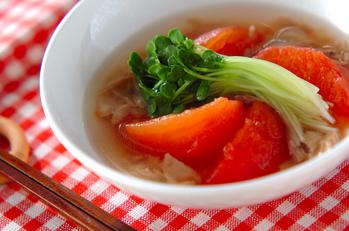 トマトとツナの煮物