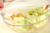 レンジキャベツのひき肉ソースの作り方4