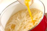 卵とチーズのスープの作り方2